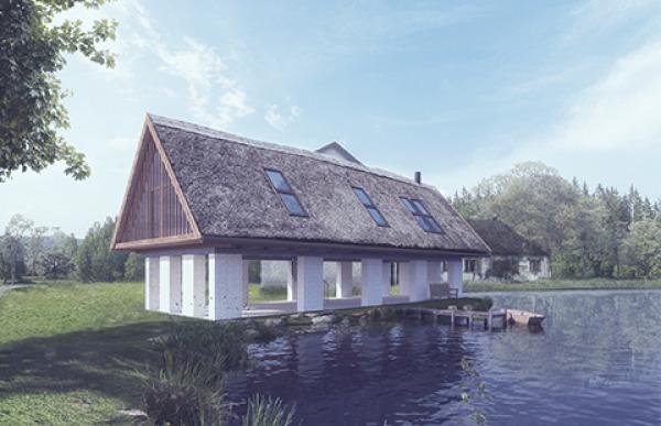 Dům u rybníka v CHKO